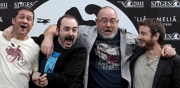 Secun de la Rosa, Carlos Areces, Juan Martínez Moreno y Gorka Otxoa en Sitges