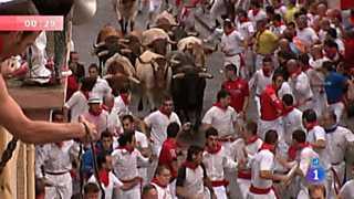 Ver vídeo  'Segundo encierro de San Fermín 2012'