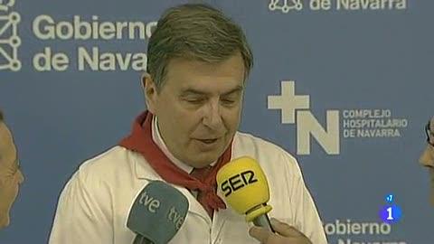 Ver vídeo  'Seis heridos en el primer encierro de San Fermín 2012, uno por asta de toro'