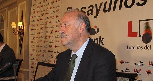 El seleccionador nacional Vicente del Bosque en los Desayunos Informativos de Europa Press.