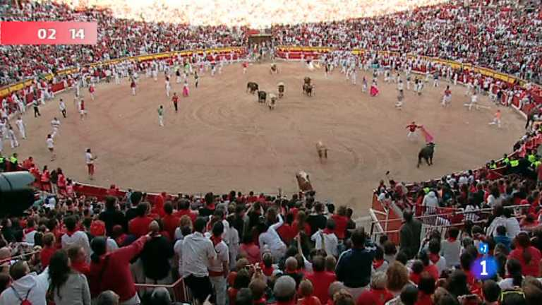 Séptimo encierro de San Fermín 2012