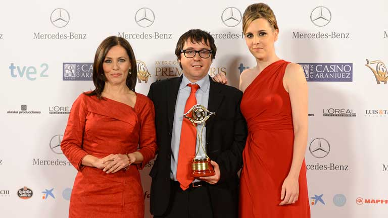 Sergio Martín, director de Canal 24 horas, recoge el premio a Mejor Canal Temático