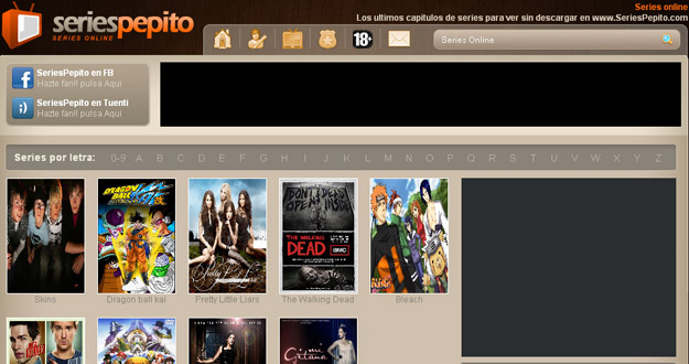 SeriesPepito, una de las primeras web denunciadas por la ley Sinde
