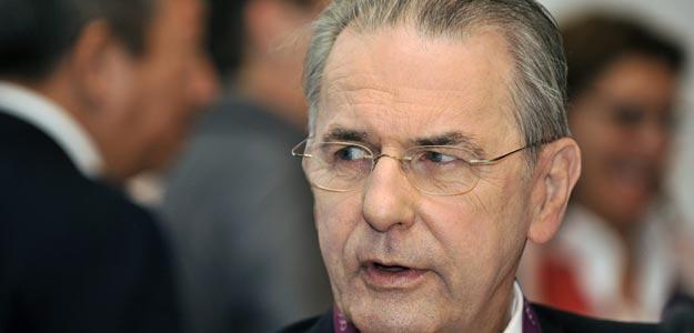 El presidente del Comité Olímpico Internaconal (COI), Jacques Rogge, durante la sesión del COI celebrada en Londres