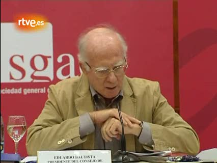 """Ver vídeo  'La SGAE recaudó 365 millones de euros en 2010, un 7,7% más, """"sin ser un buen año""""'"""