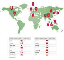 Estados Unidos ha sido el país que ha registrado el mayor número de ataques, con 49