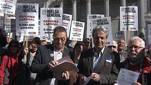 Ver vídeo  'Los sindicatos apuntan que los resultados demuestran el descontento de la gente con la reforma laboral'