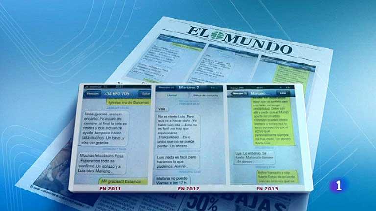 'El Mundo' publica supuestos mensajes telefónicos entre Bárcenas y Rajoy