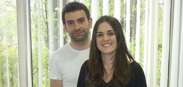 Los socios de Espacia, en el vivero de empresas de Moratalaz