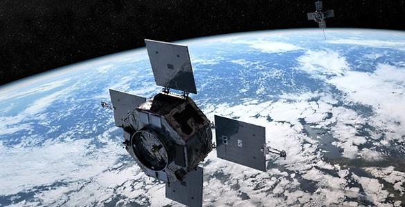 Recreación de las dos sondas que pretende lanzar la NASA en la que se ve cómo están desplegadas y orbitan en el espacio