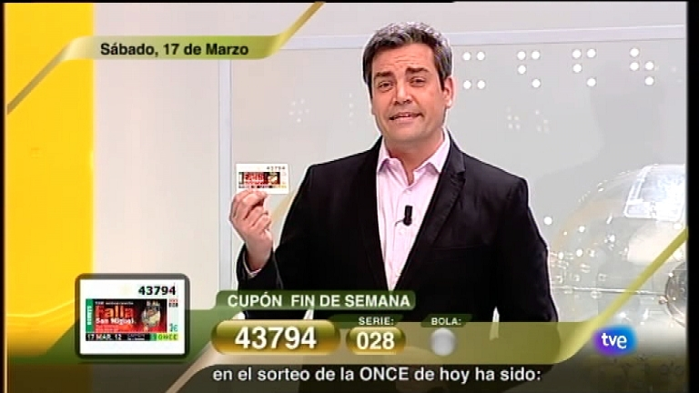 Sorteo ONCE - 17/03/12