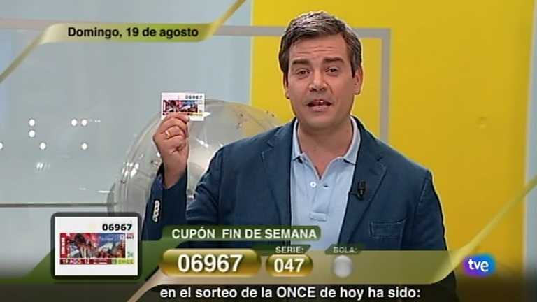 Sorteo ONCE - 19/08/12