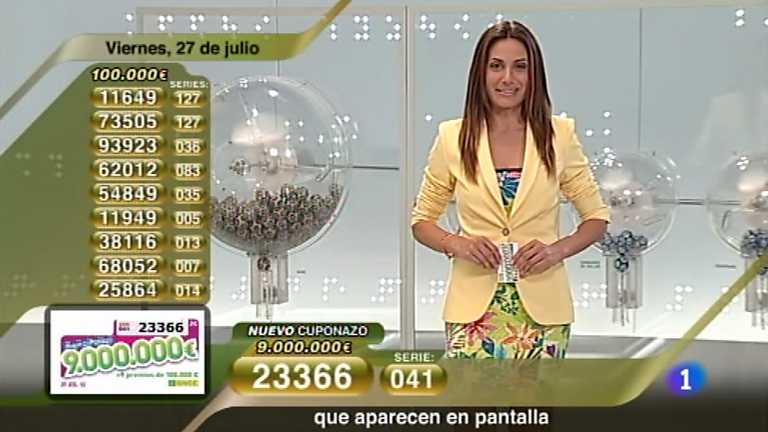 Sorteo ONCE - 27/07/12