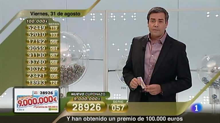 Sorteo ONCE - 31/08/12