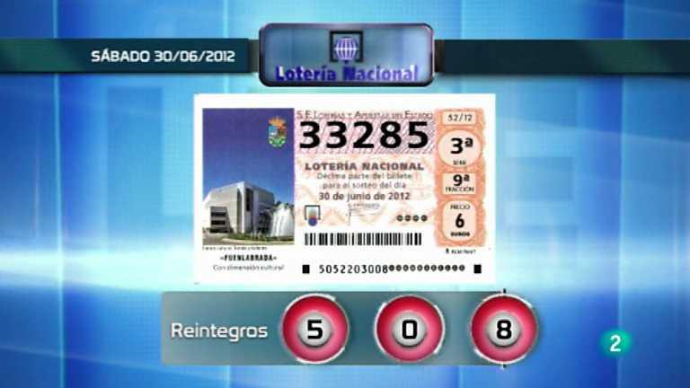 Sorteo viajero de Lotería Nacional - 30/06/12