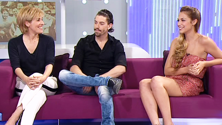 Stamos okupa2 - Anabel, Adrián y Nazaret en el plató de +Gente