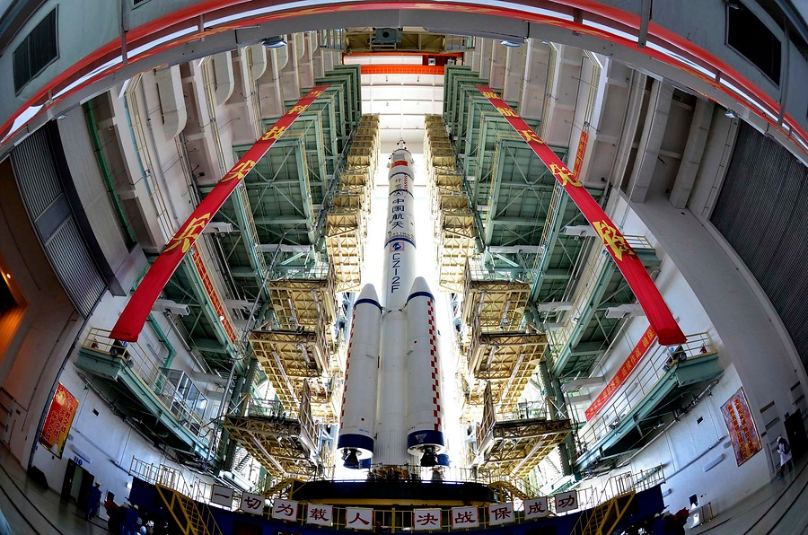<strong>La Shenzhou-9 sale a cielo abierto </strong>