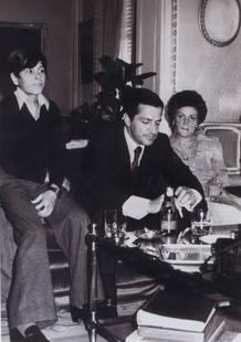 Suárez con su mujer, Amparo Illana, e hijo