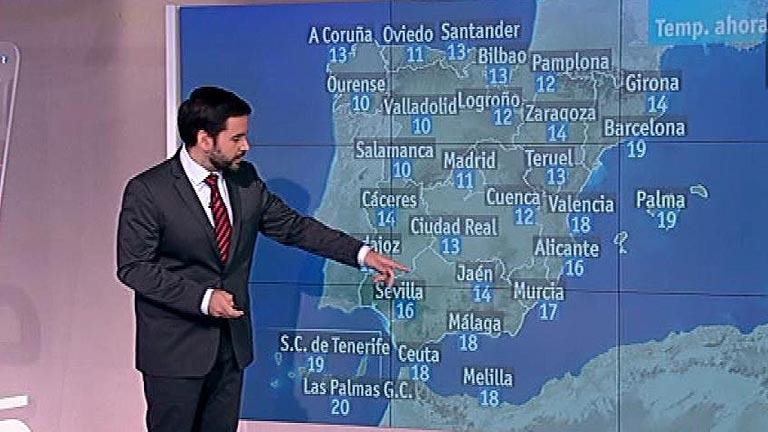 Suben las temperaturas en el centro y el sur, mientras sigue lloviendo en el norte