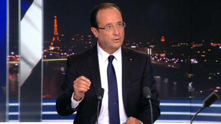 Hollande reducir&aacute; el d&eacute;ficit p&uacute;blico subiendo los impuestos