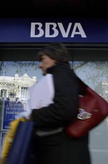 Una sucursal del BBVA en Madrid