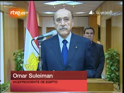 Ver v?deo  'Suleimán anuncia la marcha de Mubarak'