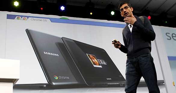 Presentación de los Chromebooks de Google durante su conferencia de desarrolladores en California