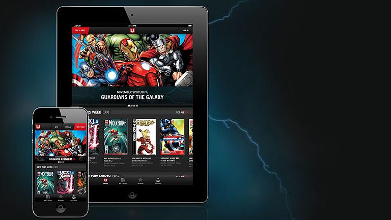 Los superheróes Marvel se pasan al formato digital