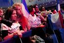 Supporters of Nicolas Sarkozy, France&#146;s President and UMP party candidate for his re-election, wait for results in the second round vote of the 2012 French presidential elections at the Mutualite meeting hall in Paris