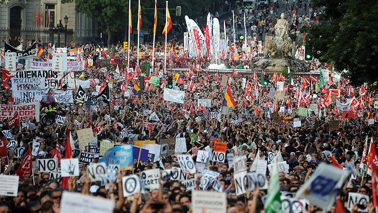 Numerosas manifestaciones por los recortes del Gobierno