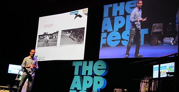 Xavier Verdaguer, fundador de Innovaley, durante su charla en The App Fest