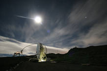 MAGIC cuenta con el mayor espejo telescópico del mundo.