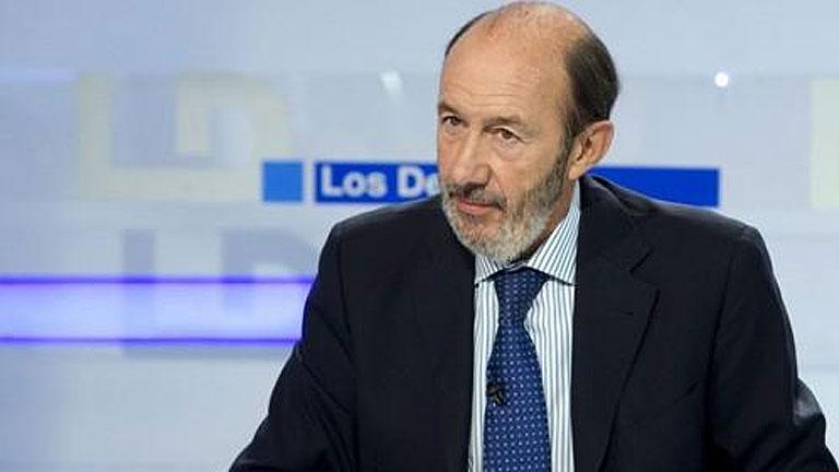 Televisión Española entrevista este lunes a Alfredo Pérez Rubalcaba