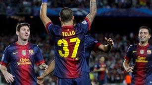 Ver vídeo  'Tello y Messi dan la victoria al Barça ante el Spartak (3-2)'