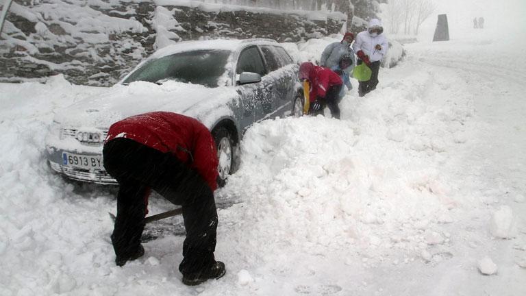 Temporales de Nieve en España