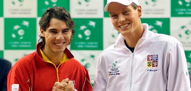 Nadal y Berdych abrirán la final de la Copa Davis 2009 en Barcelona.