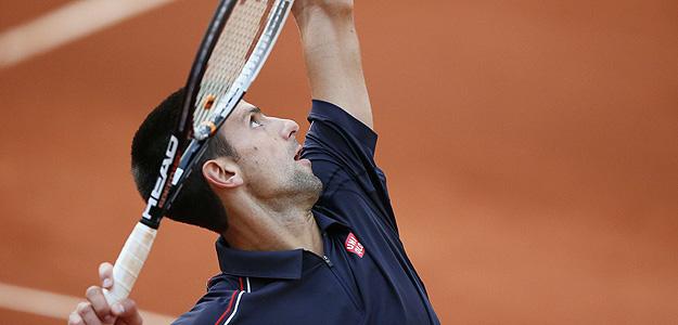 Novak Djokovic, durante el partido frente a Devilder.