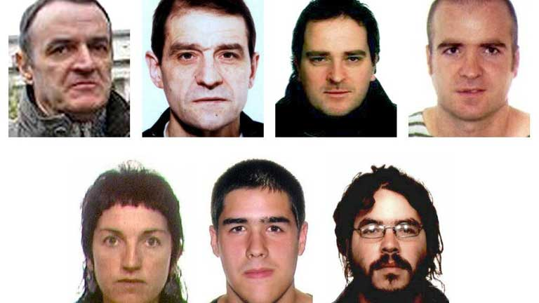 Lista de Los terroristas m&aacute;s buscados con de Juana Chaos y Josu Ternera