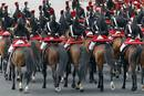 The French mounted Republican Guard take part in the traditional Bastille Day military parade in Paris