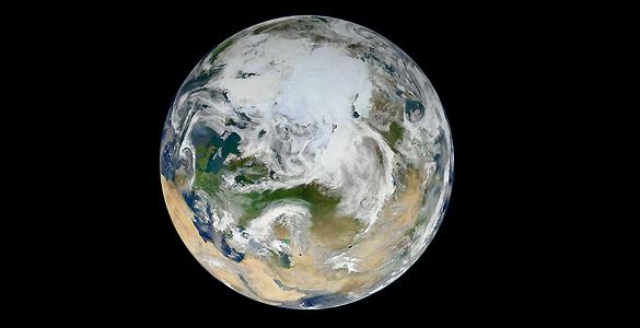 'Canica Blanca', la nueva imagen de la Tierra difundida por la NASA