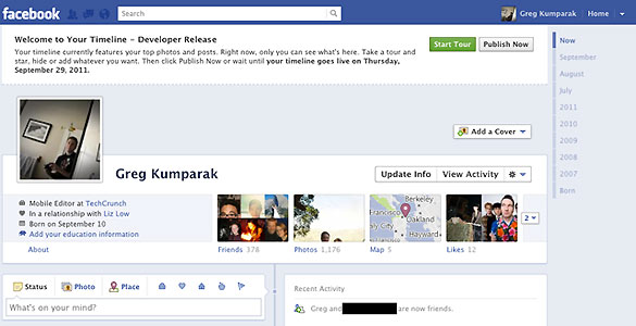 Como cambiar tu perfil de Facebook al nuevo timeline