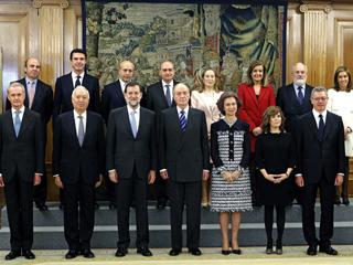 Ver vídeo  'Todos los ministros han jurado sus cargos en el acto en el Palacio de la Zarzuela'