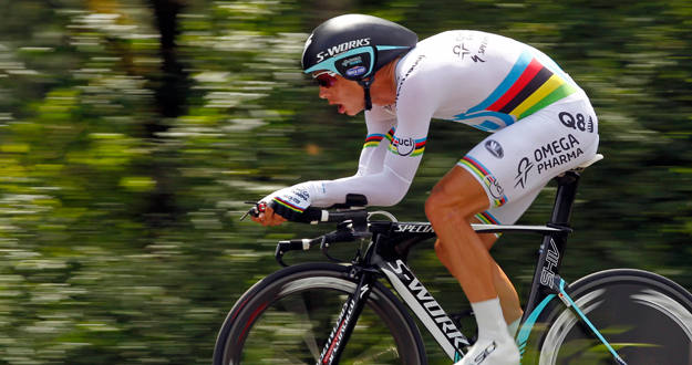El cilcista Tony Martin durante la contrarreloj del Tour de Francia.