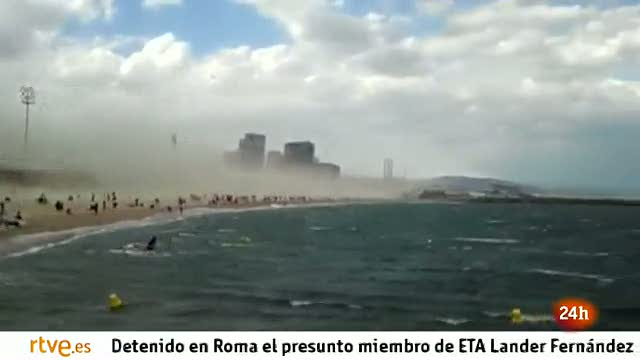 Tormenta de arena en Barcelona