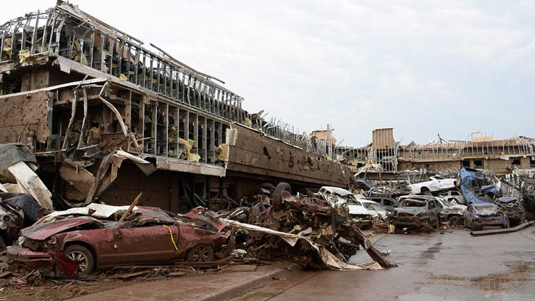 Un tornado devasta Oklahoma City
