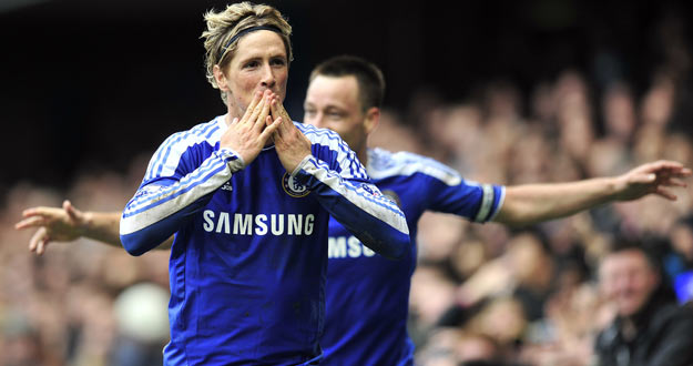 Torres celebra un gol