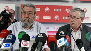 """Ver vídeo  'Toxo y Méndez hablan de """"éxito indiscutible"""" y vuelven a tender la mano al Gobierno para negociar'"""