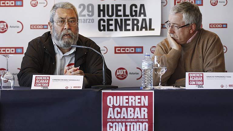 """Toxo y Méndez remarcan que la huelga general la hizo ya """"inevitable"""" su propio contenido"""
