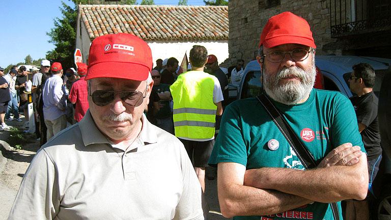 """Toxo y Méndez muestran su """"solidaridad"""" con los mineros y se unen a la marcha negra"""