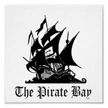 Logotipo de The Pirate Bay, una de las webs de descargas más populares de Europa